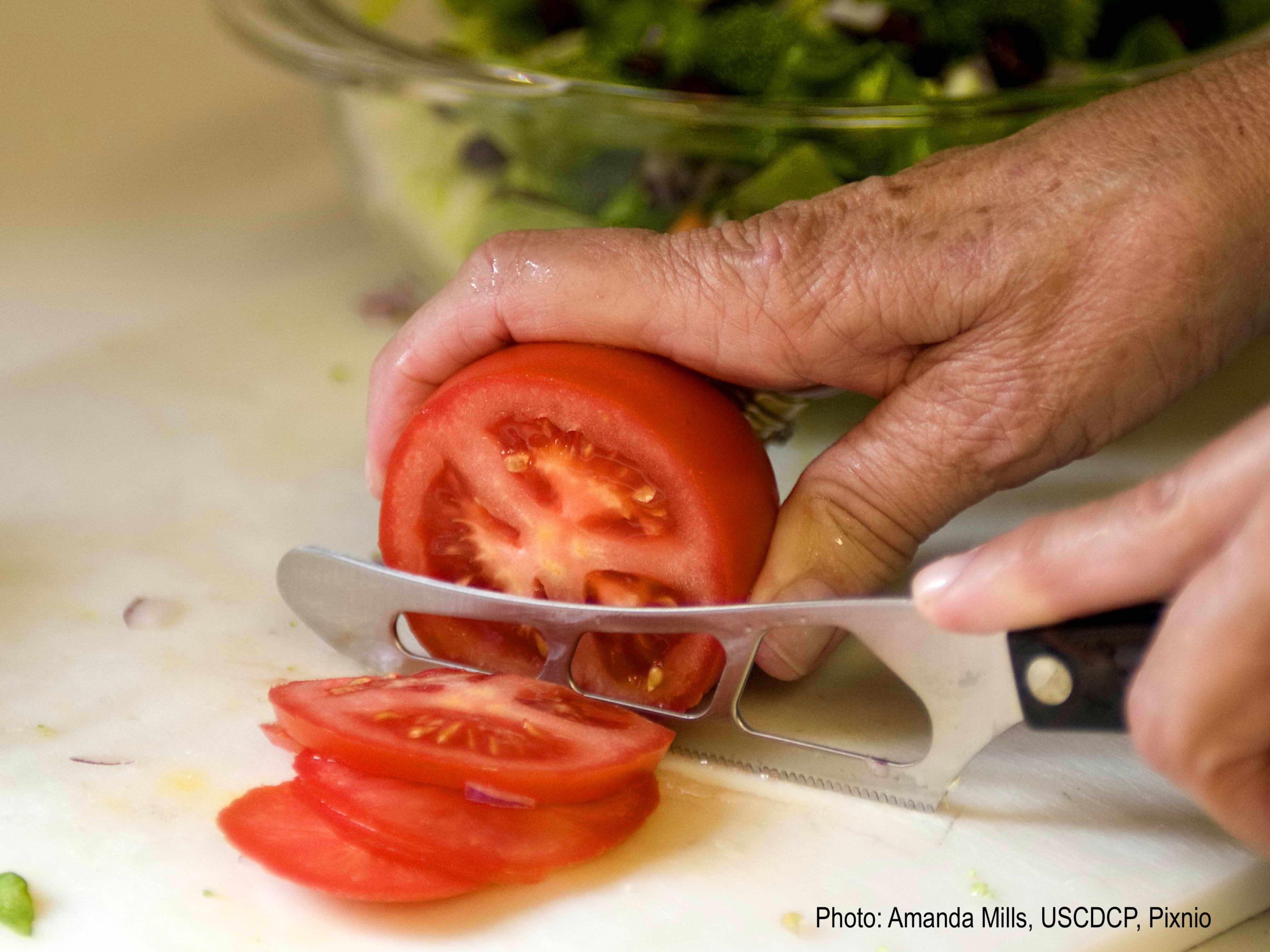 Tomato cut in slices