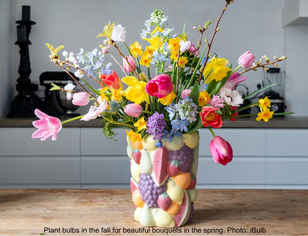 Bouquet de fleurs printanières.