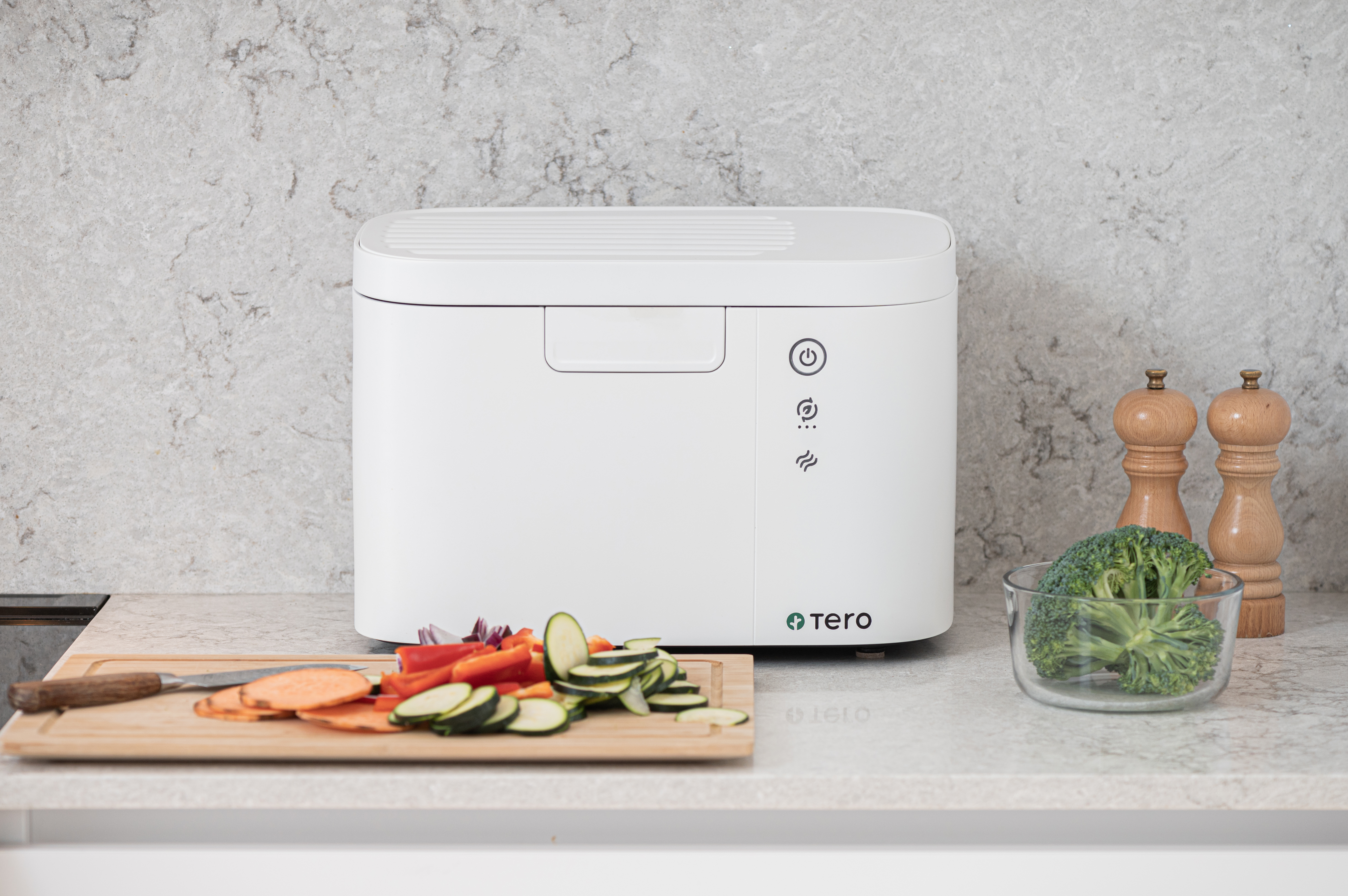 Tero food waste recycler on a counter